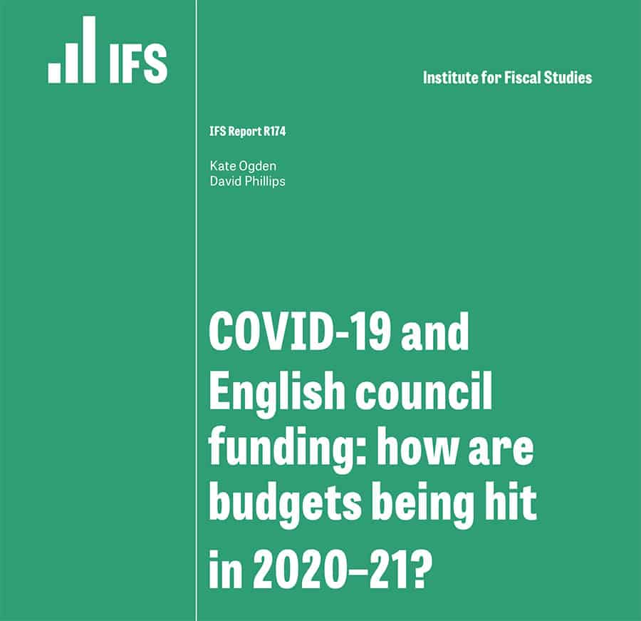 IFS council funding and COVID pressures report image
