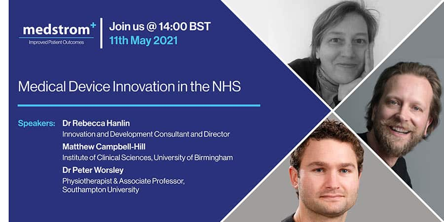 Medical Device Innovation in the NHS webinar image