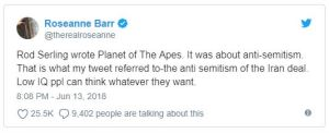Roseanne Barr Fired, Tweets Apology and Explanation - Carlos Gamino