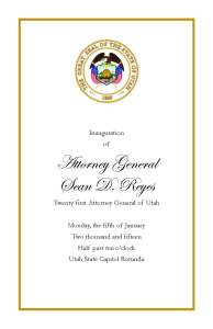 Inauguration program front