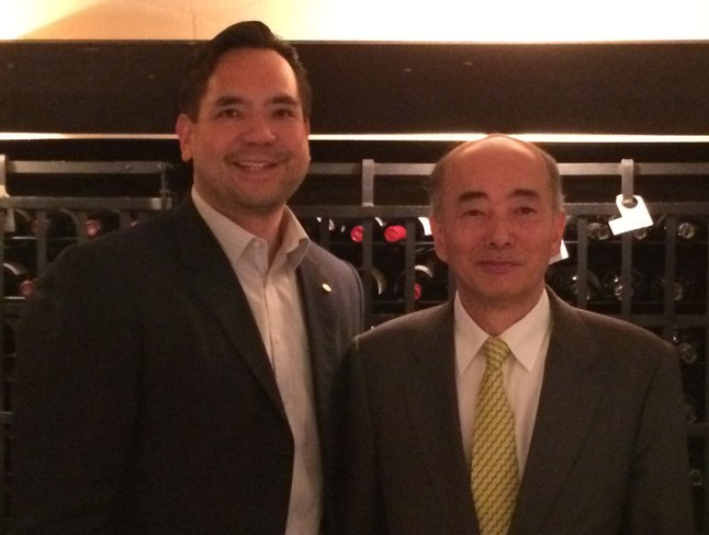 Sean with Japan Ambassador