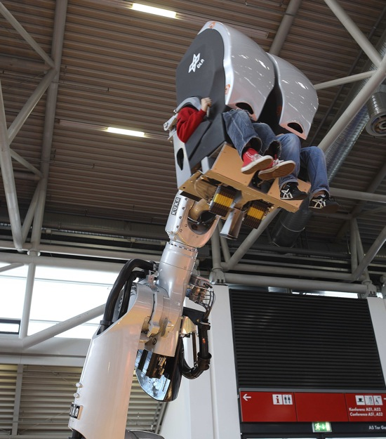 KUKA Robotic arm for The Sum of All Thrills