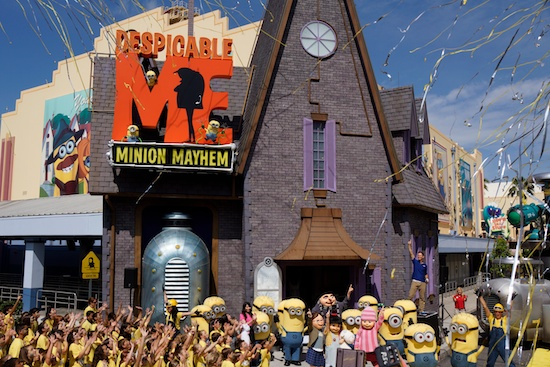 Grand Opening Held For Despicable Me Minion Mayhem At