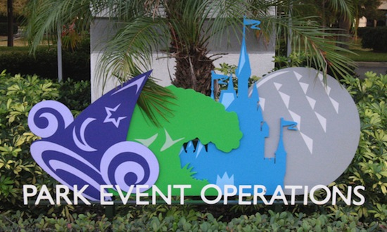 Disney's Park Event Operations sign.