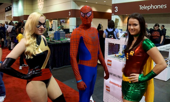 Megacon spider-man and robin