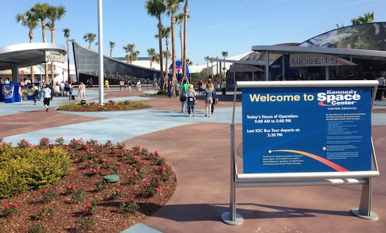 Kennedy Space Center Visitor Complex entrance