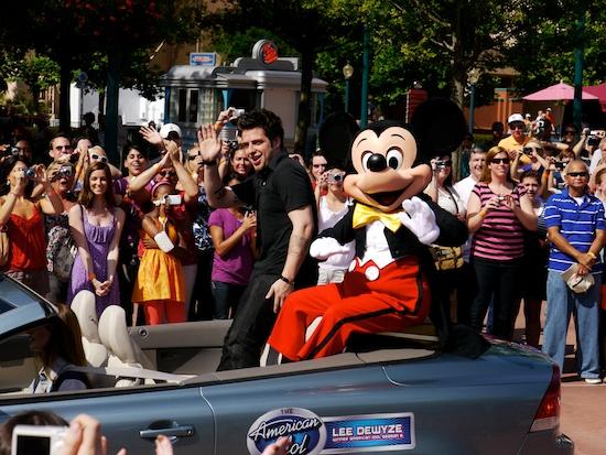 American Idol winner at Disney
