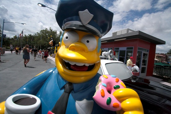 Chief Wiggum statue at Universal Orlando