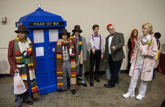Doctor who cosplayers at megacon