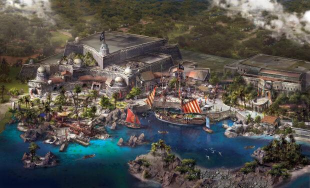 Shanghai Disneyland Treasure Cove art Pirates