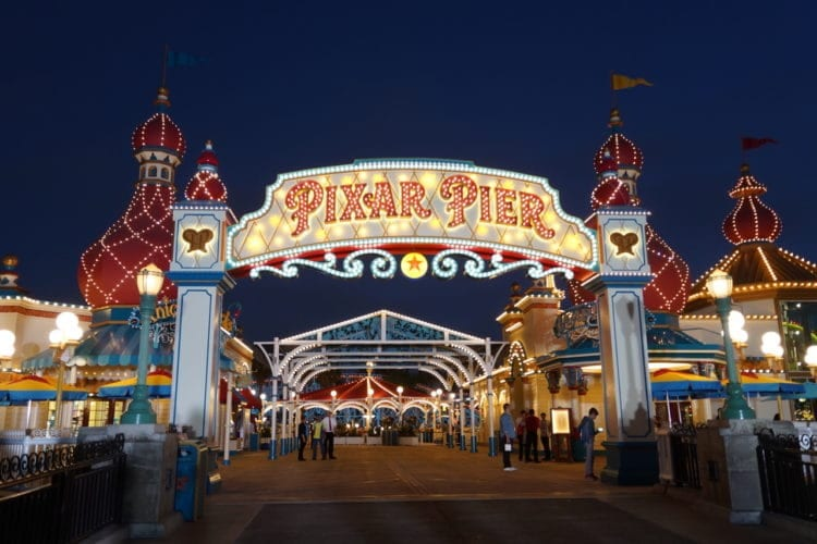 Pixar Pier open