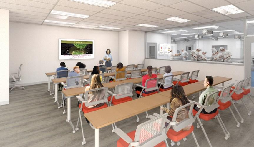 kitchen classroom rendering