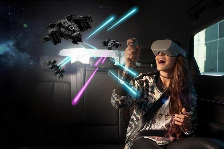 Holoride virtual reality backseat theme park concept
