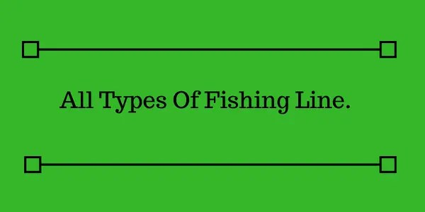 All Types Of Fishing Line