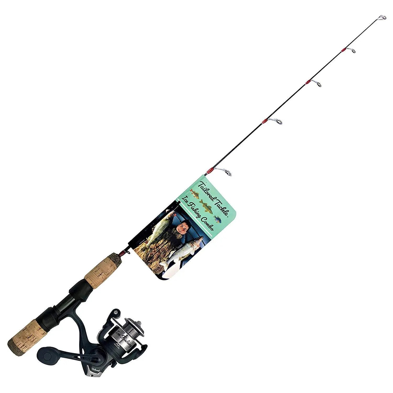Tailored Tackle Ice Fishing Rod Reel Combo
