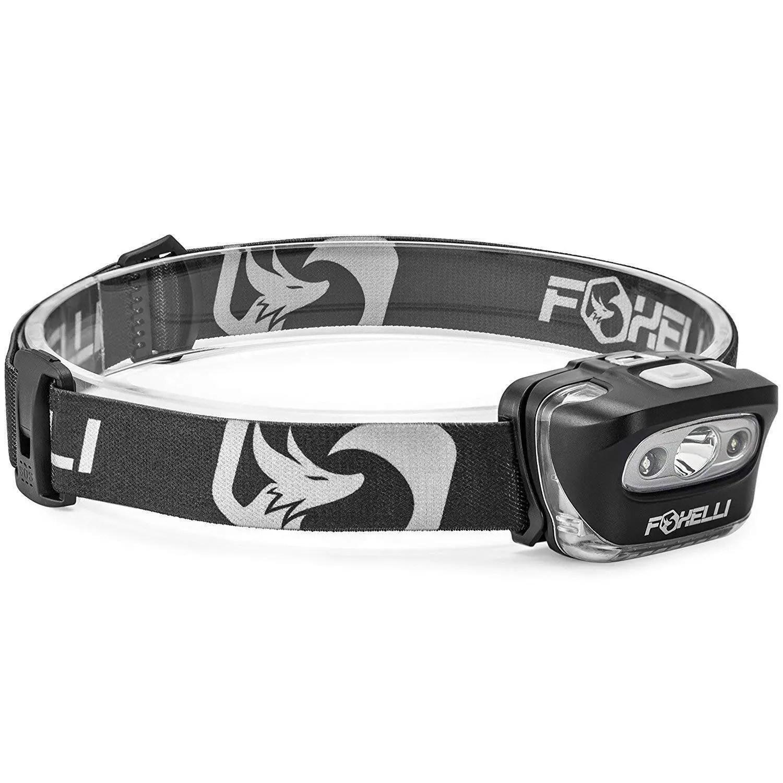 Foxelli Headlamp Flashlight - 165 Lumen