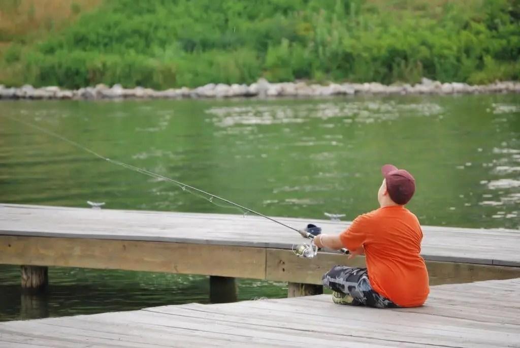 Freshwater dock fishing