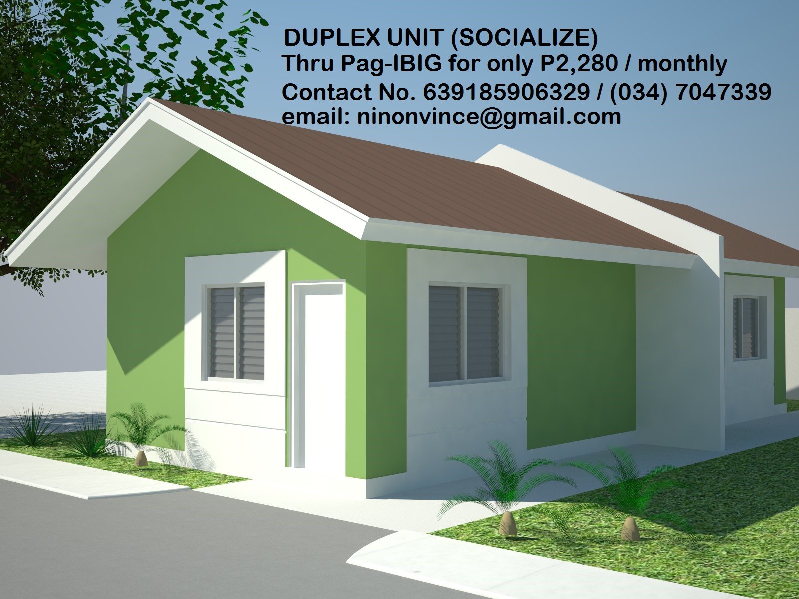 Contact: VINCE YBANEZ (Lueterio Realty & Brokerage - AGENT I.D. No. 8210)  Contact Nos. 639 185 906 329 / (034) 704-73-39 email: vinceninon@gmail.com Chat me in Facebook Page, Vince Ybanez, with the Leuterio Realty & Brokerage logo on the cover photo.