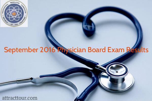 Congratulations! September 2016 Physicians Board Exam