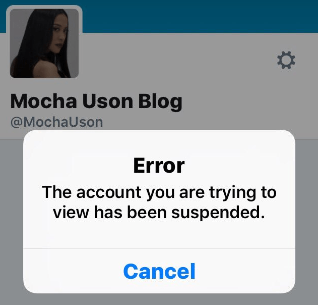 how to see suspended twitter account