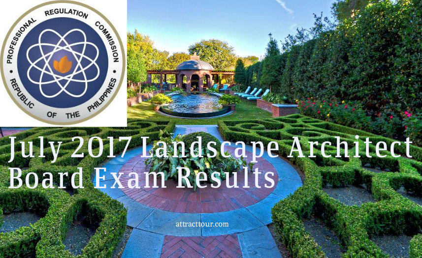 LANDSCAPE ARCHITECT LICENSURE EXAMINATION Held On JULY 11 12 2017 Page 2 Of Released 14 Seq No N A M E 1 ABUAN CHRIS XANTHY HORE