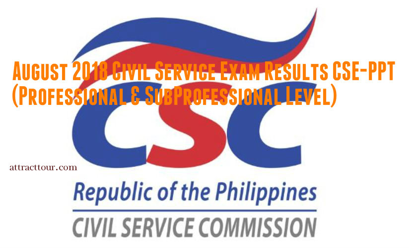 full results august 2018 civil service exam results cse ppt