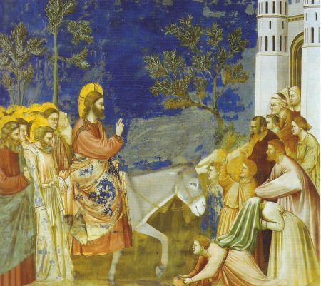 Giotto, ingresso di Gesù in Gerusalemme