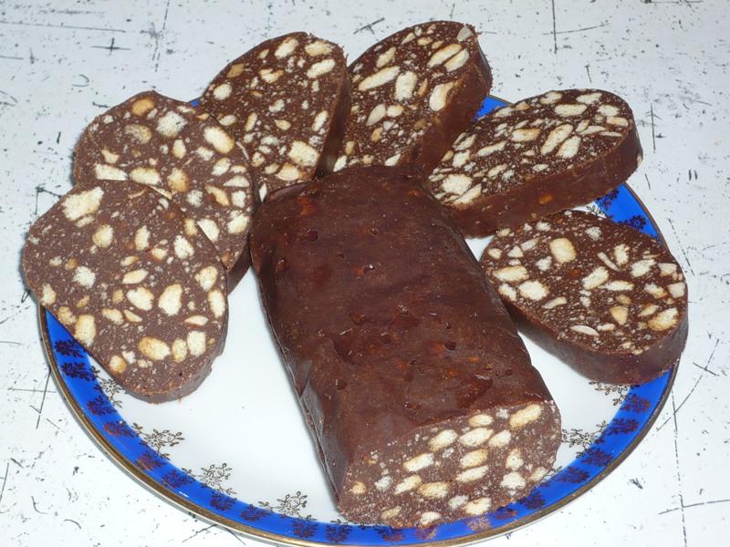 можно рецепт шоколадной колбасы из печенья с фото ученые