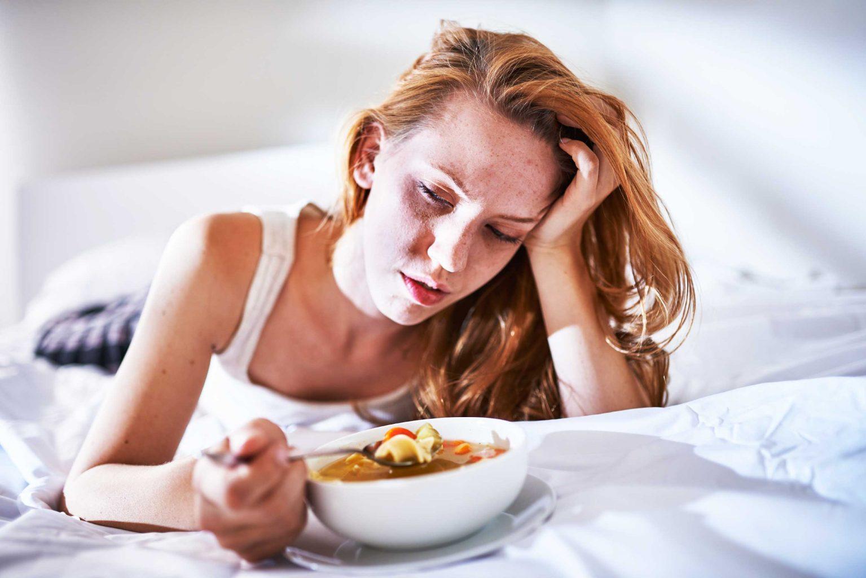 äta vid matförgiftning