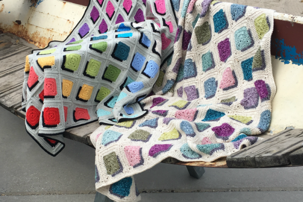 Double A Design Shadow Square Blanket: Free Pattern