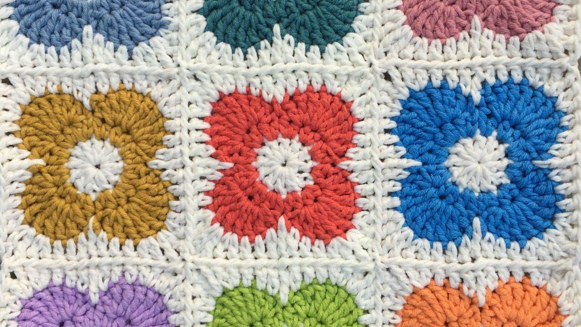 OK flower crochet motif pattern
