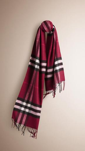 Burberry Scarf - Plum Check