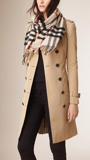 Burberry Scarf - Stone Check + Trench