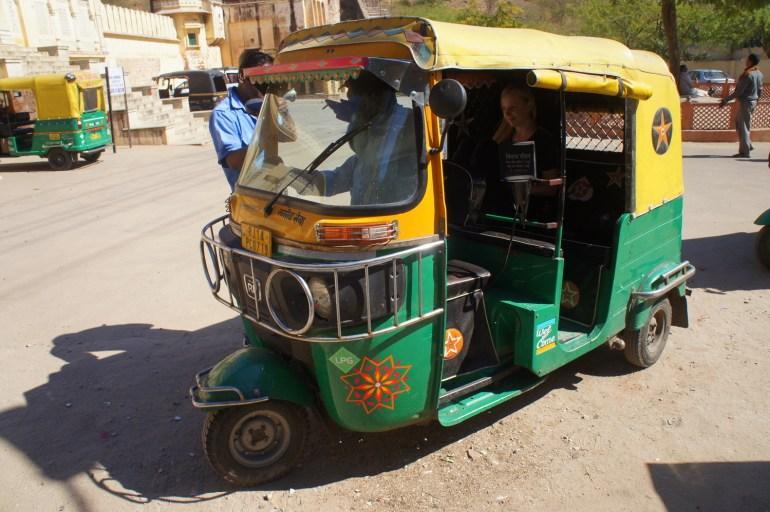 a tuk tuk India