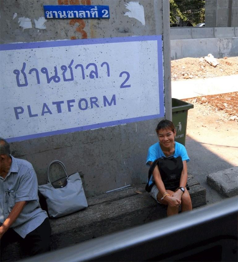Thai Woman through Train Window