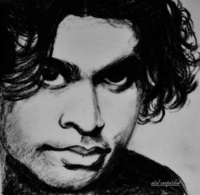 Charcoal Portrait by Atul Sarpotdar