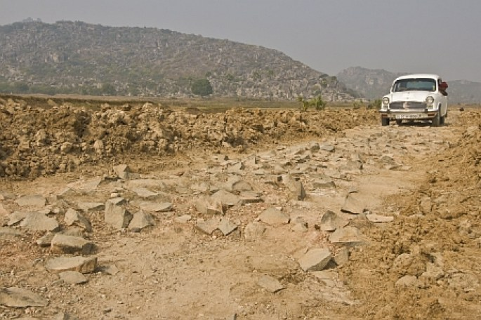 Bumpy track to the Barabar Caves