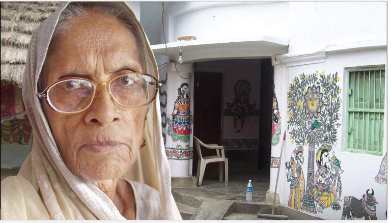 महासुंदरी देवी :एक प्रशंसित भारतीय कलाकार और मिथिला चित्रकार