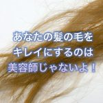 あなたの髪の毛を綺麗にするのは美容師じゃないよ!