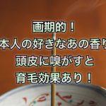 画期的!日本人の好きなあの香りを頭皮に嗅がすと育毛効果あり!