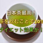 日本茶最高!緑茶を飲むことで20%のダイエット効果が!