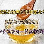風邪やインフルエンザ治療に市販薬よりハチミツが効く!オックスフォード大学が発表