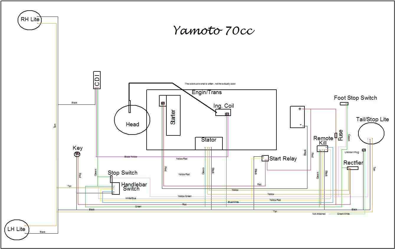 chinese 110cc atv wiring remote control honda atv wiring