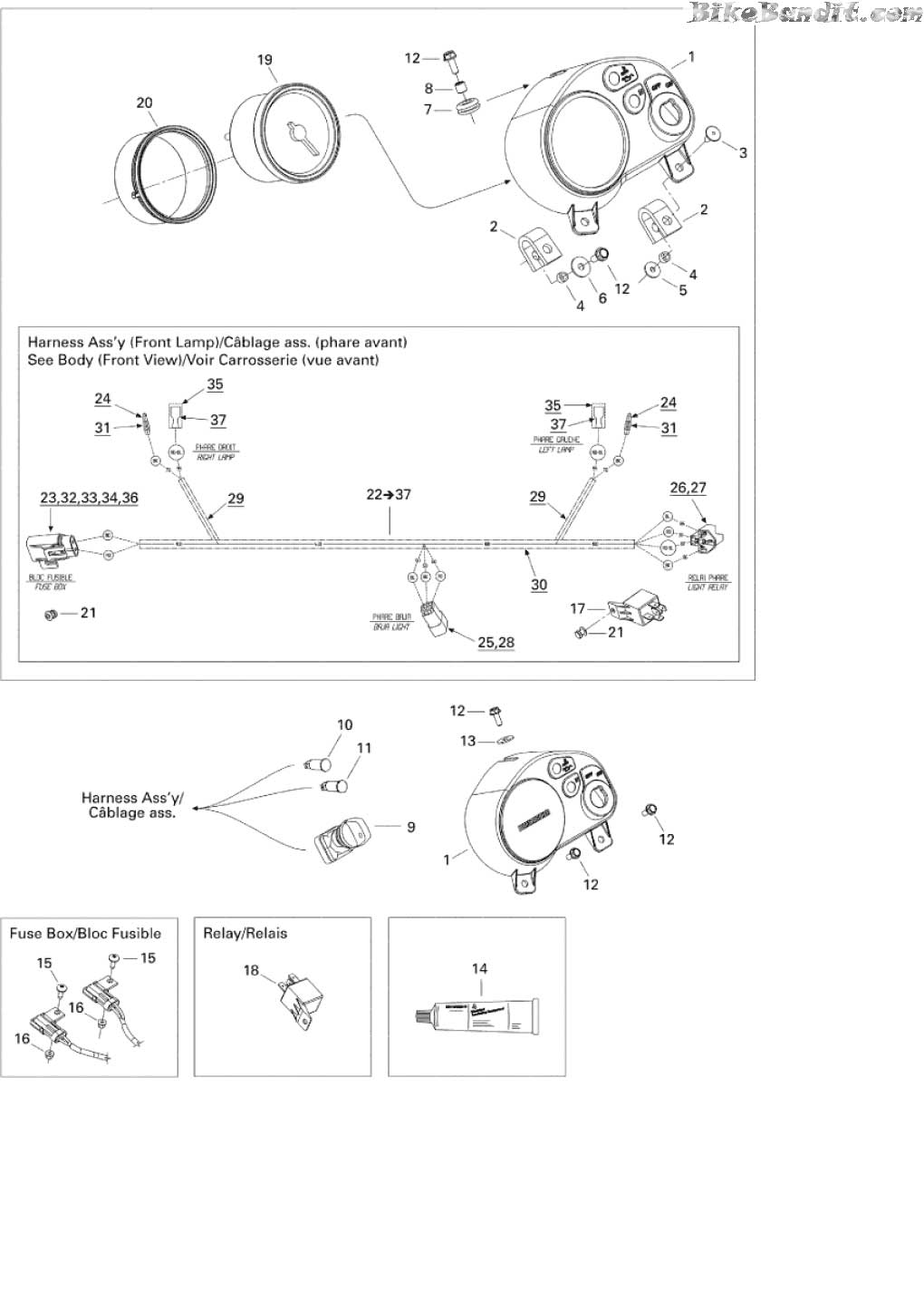 Ds650 auxillary lights atvconnection atv enthusiast munity reverse light wiring diagram ds 650 wiring diagram