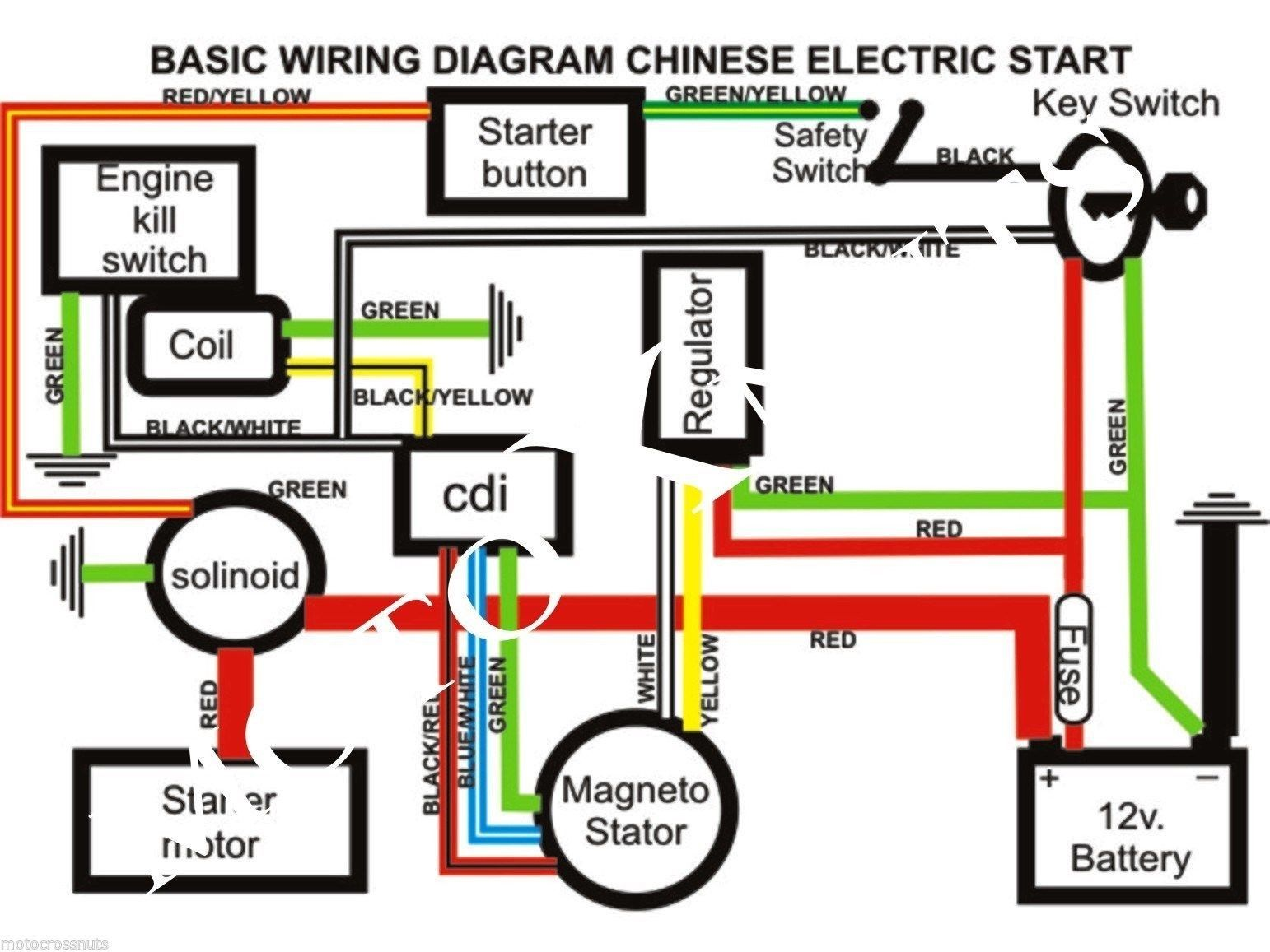 50cc Chinese Atv Wiring Diagram 70cc Posted 5 Wire Cdi ... on