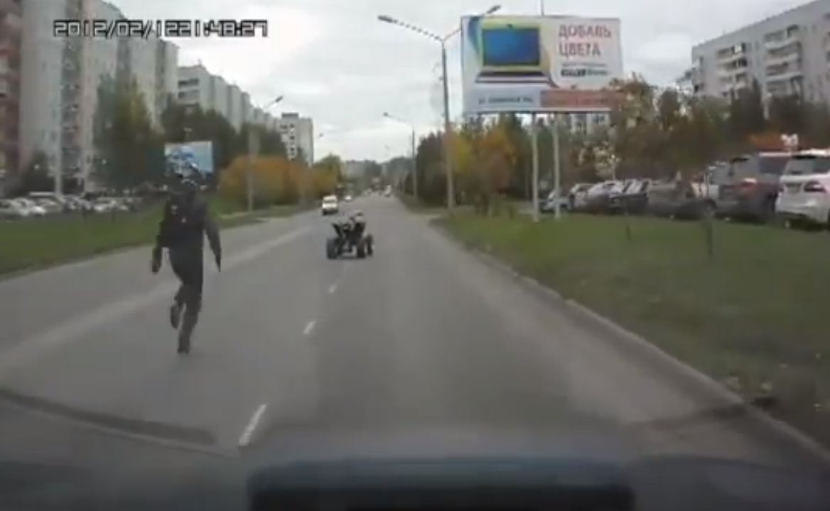 Friday Funny Road Going Atv Outsmarts Rider