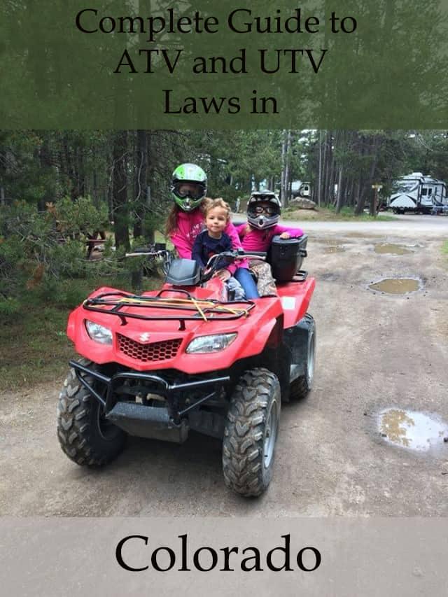 guide to atv and utv laws in colorado
