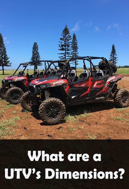 how big is utv or side by side