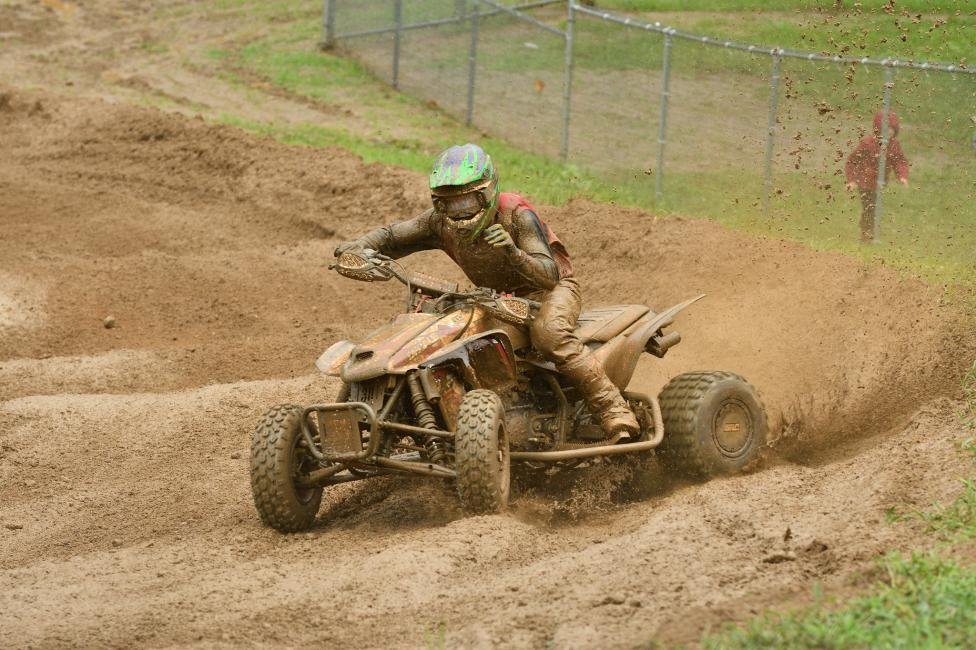 The rainfell duringmoto two at RedBud, making someof the mosttreacherousconditions of the season.