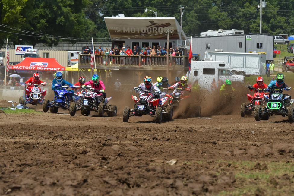 Westley Wolfe earned the moto one SSi Decals holeshot award.